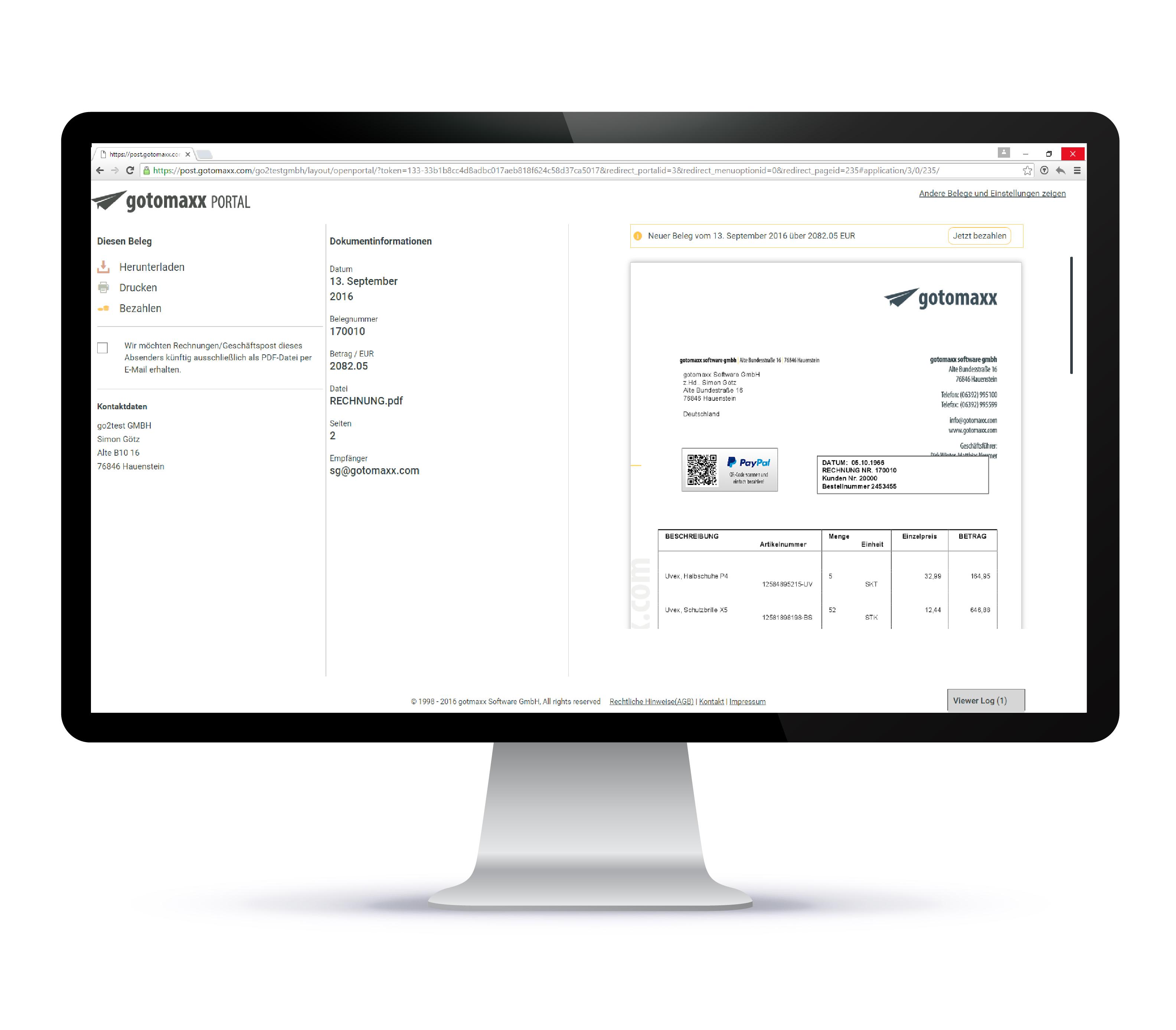 Der Online Payment Service Gotomaxx Pdf Payment Pdfmailer