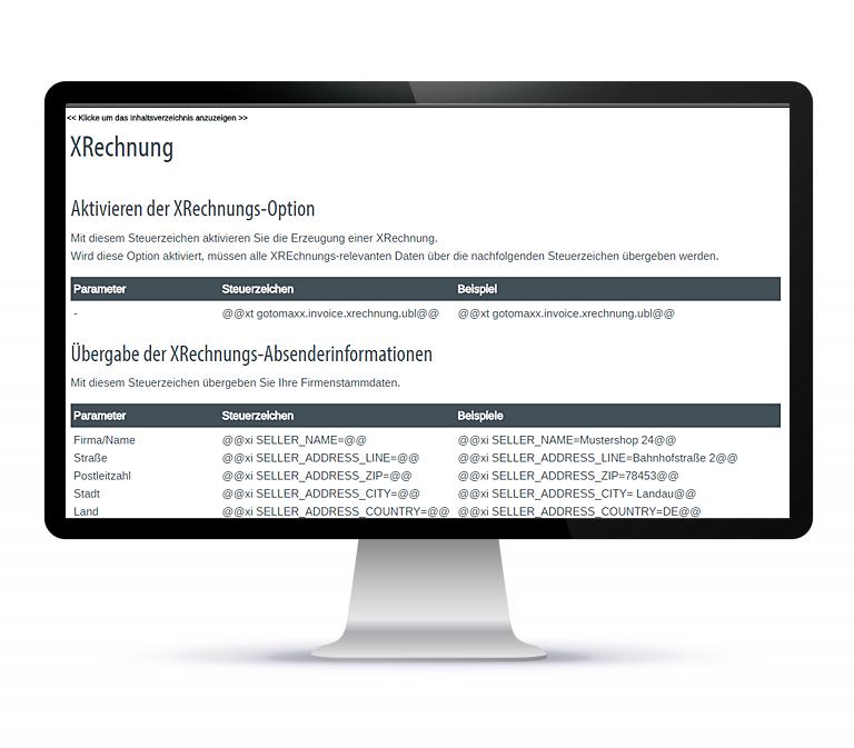 Strukturierte Rechnungsdaten mit XRechnung- gotomaxx Portalservices